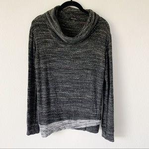 Laila Jayde Loyola Gray Cowl Neck Sweater